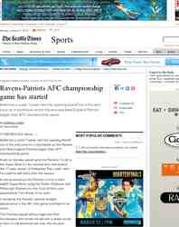 Ravens Patriots AFC championship game has started: Seattle Times